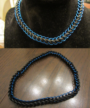 Blue Half Persian Stretchy Choker by BradsCC