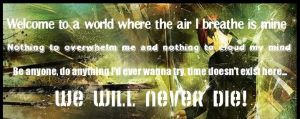 Own Little World Lyric Banner by F4fullpower