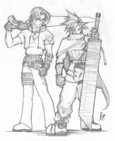 Leon and Cloud by arsenalgearxx