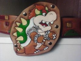 Tooled Leather Bowser Buckle by MurdocsLuver