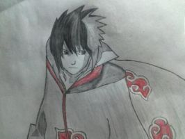 Sasuke uchiha of the akatsuki by gaberielle