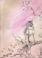 Watercolor Lady - Melancholy by In13