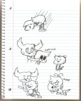 OC Doodles by CartoonDude95