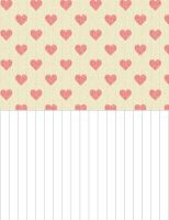 Paper Star Strips - Hearts (PINK) by Bestesy