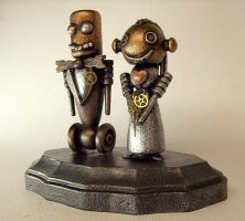 Robot Wedding Bride and Groom2 by buildersstudio