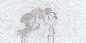 Invader Zim: Guess who the Hooded Figure is by XxMoonlightWolveXx