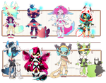 [CLOSED] ADOPT 26 - No-Human set 2 by Piffi-adoptables