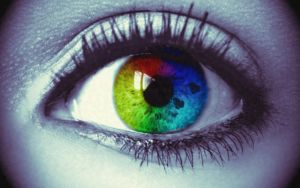 coloursplash eye vintage by opium-luvs-blue