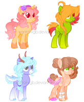 ~Adoptables~. Female Ponies :CLOSED: by XantaL-XGB
