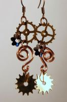 Steampunk earrings 3 by TheCraftsman