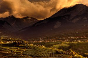 Sunset at Sion by Leo-SA