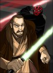 Qui-Gon vs. Maul by grantgoboom