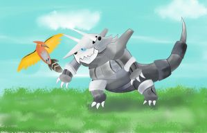 Aggron and fletchinder
