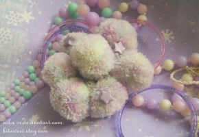Fun-Kei Space Pompom Meteor bracelet by Nika-N