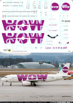 1/144 Airbus A320-232 WOW Air TF-WOW by WombatsModels