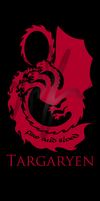 Targaryen - Ice and Fire House Banners by Nukaleu