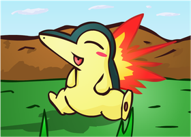 Young Cyndaquil by NessStar3000