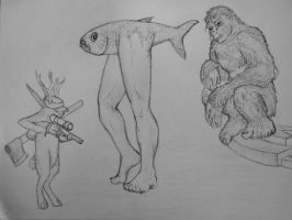 Sasquatch and friends by Lexinator117