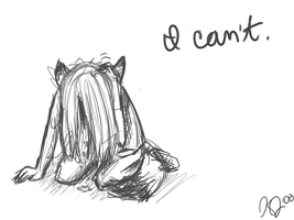 I can't. by affy-hedgefoxbat