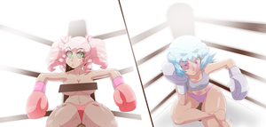 Candy vs Naoko .:Commission:. by MedleyAssault