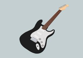 Fender Stratocaster made in Google SketchUp by JAROsProjects