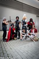Final Fantasy VII group - Romics 2014 by Eraneth