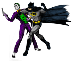 Batman vs the Joker by Mbecks14