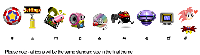 Sonic CD Official PS3 Theme Artwork(Icons) by modusprodukt