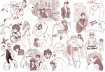 Big Hero 6 Sketchdump! by Ron-nie