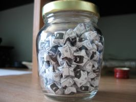 Monokuro boo star jar by OrigamiGenius