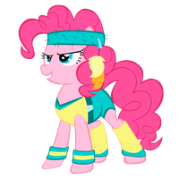 Pinkiepie ready to workout (: by FranPaz