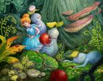 Ellie and the Sproutlings in the Forest. by AniaMohrbacher