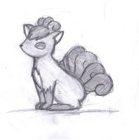 Vulpix-sketch by RainingAshes
