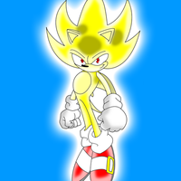 Super Sonic Re-Drawing by MattShadowwing