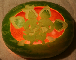 Double Pichu Watermelon Light by johwee