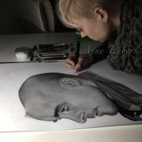 me working on Jared :) by Lorelai82