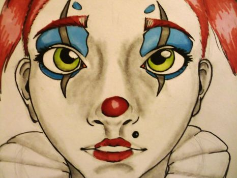 Clown girl by Black-out-John