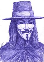 V For Vendetta speed drawing by ForeverZeroDragon