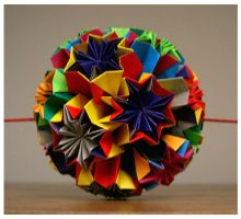 Folded Kusudama by wastedlimes