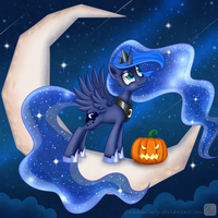 New friend on the moon by SwanLullaby