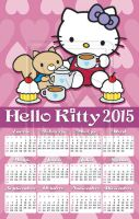 Hello Kitty wall calendar 2015 commission by rickymanson