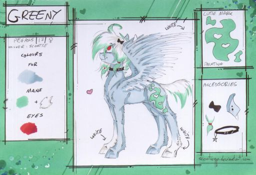 OC - Greeny (reference) by ScootieGP