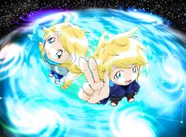 Isaac and Iris - Star Twins by EdwardTCat