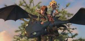 Toothless Hiccup and Astrid by Kamveeooch