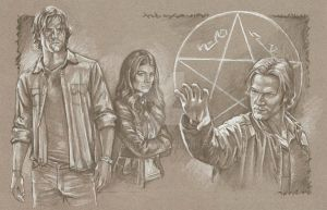 WIP 3 Sam Winchester and Ruby by scotty309