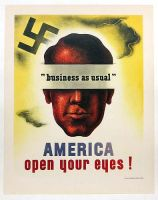 1944 american ww2 poster by ShitAllOverHumanity