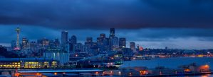 Seattle Cityscape Panorama by UrbanRural-Photo