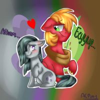 Big Mac And Marble Pie by ArtistCoolPony