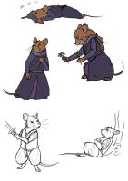 Redwall: Rose and Martin poses by KanuTGL