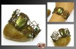 Sonea II- wire wrapped bracelet by mea00